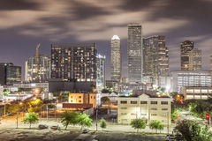 Houston Downtown at Night Royalty Free Stock Image