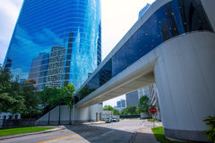Free Houston Downtown Skyscrapers Disctict Blue Sky Mirror Stock Image - 31374731