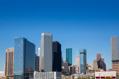 Houston downtown skyscrappers skyline on blue sky Royalty Free Stock Photography
