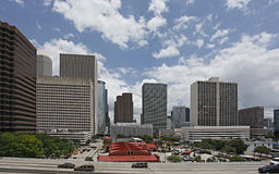 Houston downtown view from the south Stock Photos