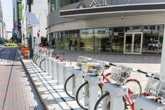 Houston en el centro de la ciudad mucho bicis en calle imágenes de archivo libres de regalías