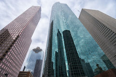 Houston financial district Royalty Free Stock Photos