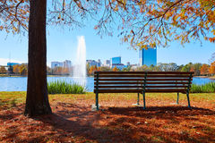Houston Hermann park Mcgovern lake. Houston Hermann park conservancy Mcgovern lake at autumn in Texas stock image