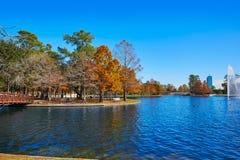 Houston Hermann-Park Mcgovern See stockfotos