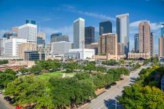 Houston im Stadtzentrum gelegen Lizenzfreie Stockfotografie