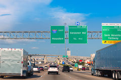 Houston Katy Freeway Fwy nel Texas U.S.A. Fotografia Stock Libera da Diritti