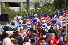 Houston Livestock Show and Rodeo Parade. Every February since 1938 the nation's fourth largest city is transformed from a bustling metropolis to a down-home royalty free stock photo