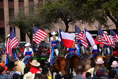 Houston Livestock Show and Rodeo Parade. Every February since 1938 the nation's fourth largest city is transformed from a bustling metropolis to a down-home Stock Images