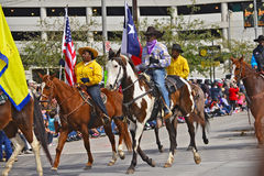 Houston Livestock Show and Rodeo Parade. Every February since 1938 the nation's fourth largest city is transformed from a bustling metropolis to a down-home royalty free stock photos