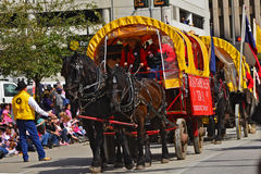 Houston Livestock Show and Rodeo Parade. Every February since 1938 the nation's fourth largest city is transformed from a bustling metropolis to a down-home stock photos