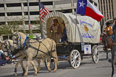 Houston Livestock Show and Rodeo Parade. Every February since 1938 the nation's fourth largest city is transformed from a bustling metropolis to a down-home royalty free stock image