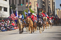 Houston Livestock Show and Rodeo Parade. Every February since 1938 the nation's fourth largest city is transformed from a bustling metropolis to a down-home Royalty Free Stock Images