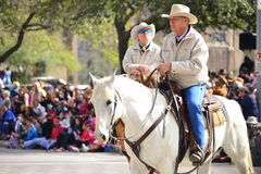 Houston Livestock Show and Rodeo Parade. Every February since 1938 the nation's fourth largest city is transformed from a bustling metropolis to a down-home Stock Image