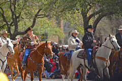 Houston Livestock Show and Rodeo Parade. Every February since 1938 the nation's fourth largest city is transformed from a bustling metropolis to a down-home stock photo