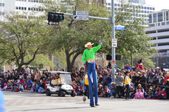 Houston Livestock Show and Rodeo Parade. Every February since 1938 the nation's fourth largest city is transformed from a bustling metropolis to a down-home Royalty Free Stock Photography
