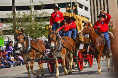 Houston Livestock Show- und Rodeo-Parade lizenzfreies stockfoto