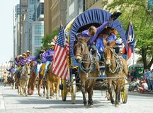 Houston Livestock Show- und Rodeo-Parade stockfotografie