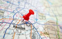 Houston map stock images