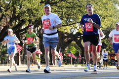 Houston Marathon. Picture of people running for the Chevron Houston Marathon in 2009 Stock Image