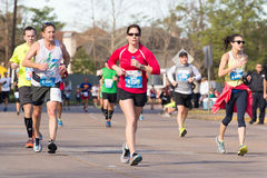 Houston 2015 marathon runners Royalty Free Stock Photography