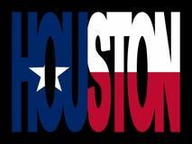 Houston met Texan vlag royalty-vrije illustratie