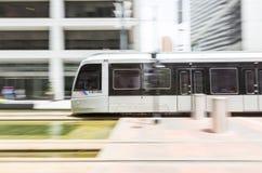 Houston Metro en el movimiento Imagenes de archivo