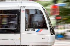 Houston Metro en el movimiento Imágenes de archivo libres de regalías