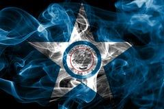 Houston miasta dymu flaga, Teksas stan, Stany Zjednoczone Ameryka Zdjęcie Stock