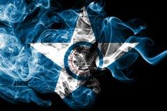 Houston miasta dymu flaga, Teksas stan, Stany Zjednoczone Ameryka royalty ilustracja