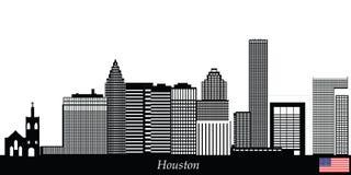 Houston miasta linia horyzontu Zdjęcie Royalty Free