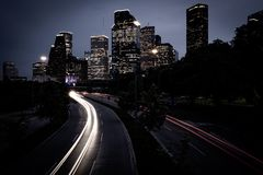 Houston at Night stock image