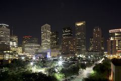Houston night Royalty Free Stock Image