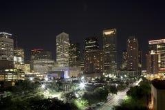 Houston night. Pretty city Houston night background, TX USA royalty free stock image