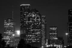 Houston night scenes background Stock Image