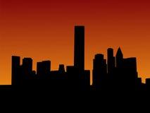 Houston no por do sol ilustração stock