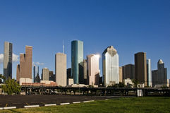 Houston, orizzonte del centro di TX fotografia stock libera da diritti