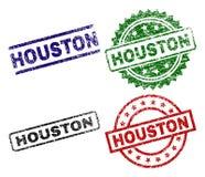 HOUSTON Seal Stamps texturisé endommagé Illustration Libre de Droits