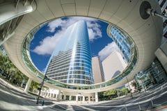 Houston Sky Walk du centre images stock