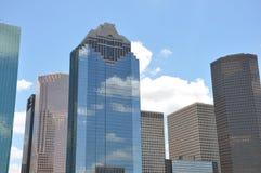Houston Skyline. Under a bright blue sky Royalty Free Stock Photo