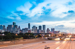 Houston Skyline Royalty-vrije Stock Afbeeldingen