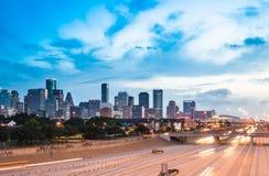 Houston Skyline Imágenes de archivo libres de regalías