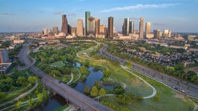 Houston Skyline Photos libres de droits