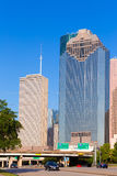 Houston skyline from Allen Parkway at Texas US Stock Photography