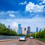 Houston skyline from Buffalo Bayou Pkwy Texas US Royalty Free Stock Photo