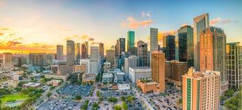 Houston Skyline céntrico Fotografía de archivo libre de regalías