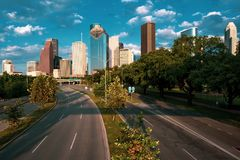 Houston Skyline photo libre de droits