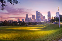 Houston skyline at dawn Stock Photography