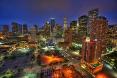 Houston Skyline de V.S. royalty-vrije stock afbeelding