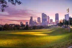 Houston-Skyline an der Dämmerung Stockfoto