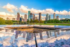 Houston Skyline do centro Fotos de Stock Royalty Free